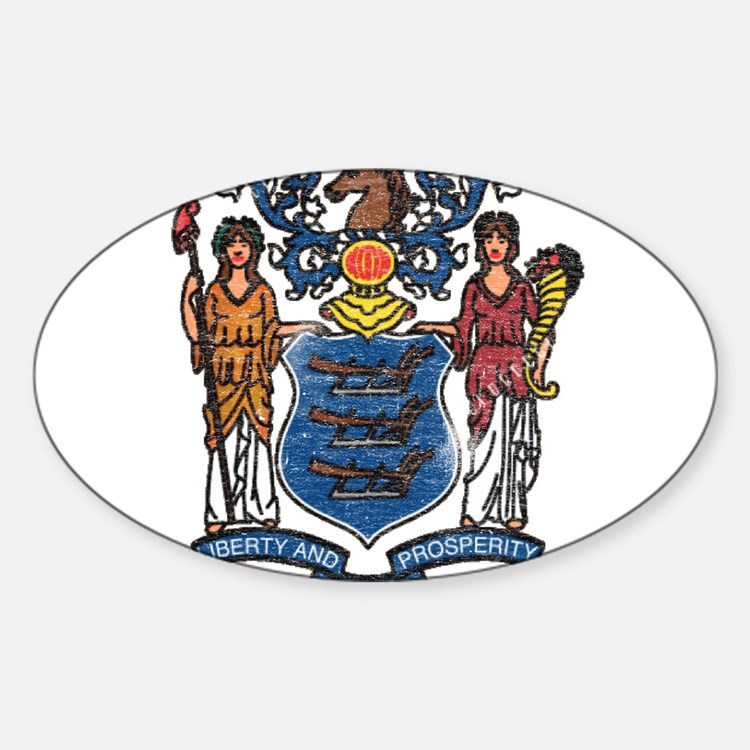 New Jersey State Flag Decal