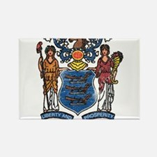New Jersey State Flag Rectangle Magnet