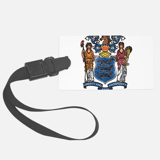 New Jersey State Flag Luggage Tag