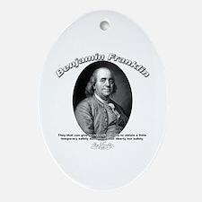 Benjamin Franklin 02 Oval Ornament