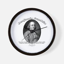 Benjamin Franklin 02 Wall Clock