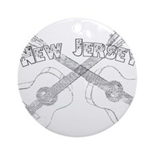 New Jersey Guitars Ornament (Round)