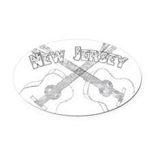 New Jersey Guitars Oval Car Magnet