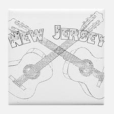 New Jersey Guitars Tile Coaster