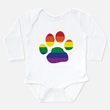 Gay Pride Rainbow Paw Print Body Suit