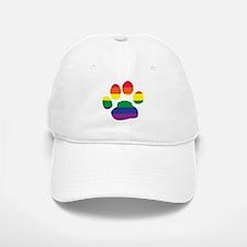 Gay Pride Rainbow Paw Print Baseball Baseball Baseball Cap