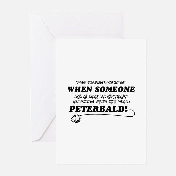 Funny Peterbald designs Greeting Card