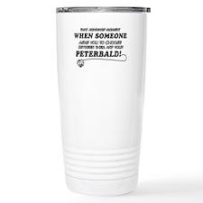 Funny Peterbald designs Travel Mug