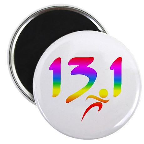 "Rainbow 13.1 half-marathon 2.25"" Magnet (100 pack)"