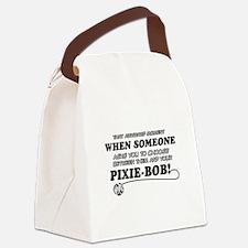 Funny Pixie-Bob designs Canvas Lunch Bag