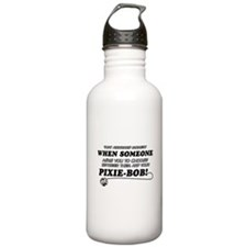 Funny Pixie-Bob designs Water Bottle