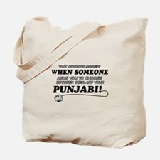 Funny Punjabi designs Tote Bag