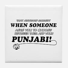Funny Punjabi designs Tile Coaster