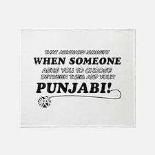 Funny Punjabi designs Throw Blanket