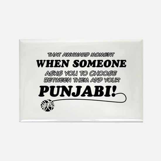 Funny Punjabi designs Rectangle Magnet