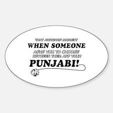 Funny Punjabi designs Decal