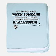 Funny Ragamuffin designs baby blanket
