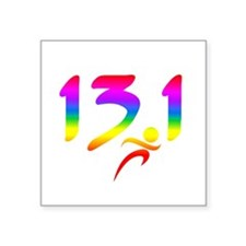 Rainbow 13.1 half-marathon Sticker
