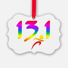 Rainbow 13.1 half-marathon Ornament