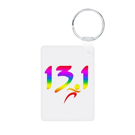 Rainbow 13.1 half-marathon Keychains