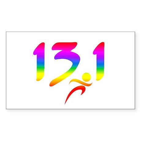 Rainbow 13.1 half-marathon Sticker