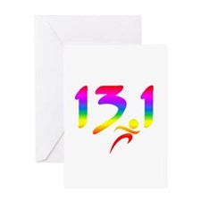 Rainbow 13.1 half-marathon Greeting Card
