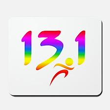 Rainbow 13.1 half-marathon Mousepad