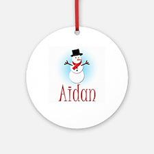 Snowman - Aidan Ornament (Round)