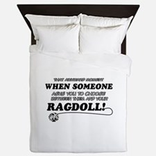 Funny Ragdoll designs Queen Duvet