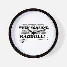 Funny Ragdoll designs Wall Clock