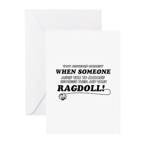 Funny Ragdoll designs Greeting Cards (Pk of 10)