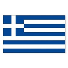 Greek Flag Bumper Stickers