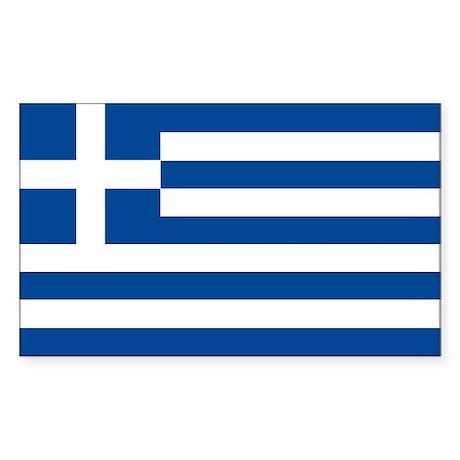Greek Flag Sticker (Rectangle)