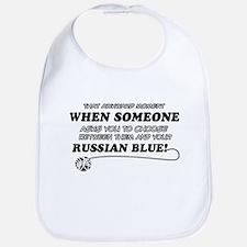 Funny Russian Blue designs Bib