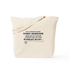 Funny Russian Blue designs Tote Bag