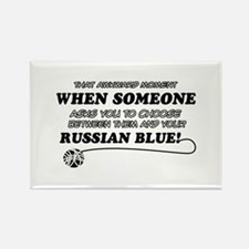 Funny Russian Blue designs Rectangle Magnet