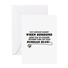 Funny Russian Blue designs Greeting Card
