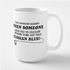Funny Russian Blue designs Mug