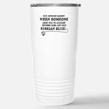 Funny Russian Blue designs Travel Mug