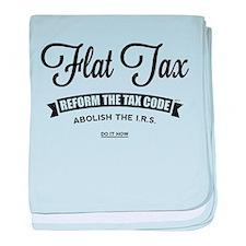 Flat Tax baby blanket