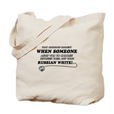 Funny Russian White designs Tote Bag