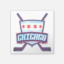 Chicago Hockey Flag Logo Sticker