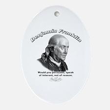 Benjamin Franklin 03 Oval Ornament