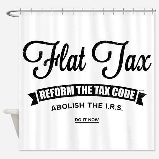 Flat Tax Shower Curtain