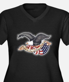 Land of the Free Plus Size T-Shirt