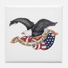 Land of the Free Tile Coaster