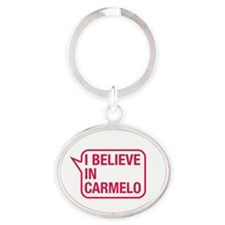 I Believe In Carmelo Keychains