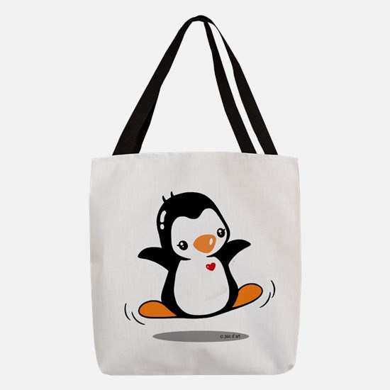 Happy Penguin (2) Polyester Tote Bag