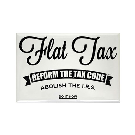 Flat Tax Rectangle Magnet