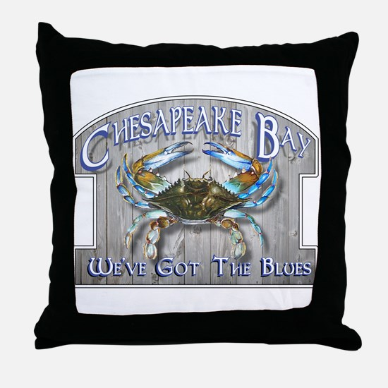 Chesapeake Bay Blues Throw Pillow